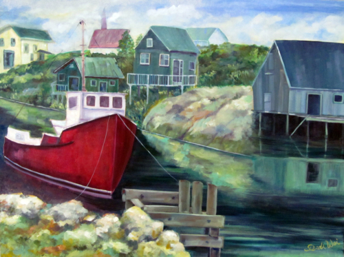Boat at Peggy's Cove